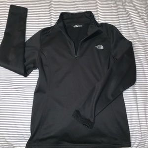 The north face quarter zip jacket sweater